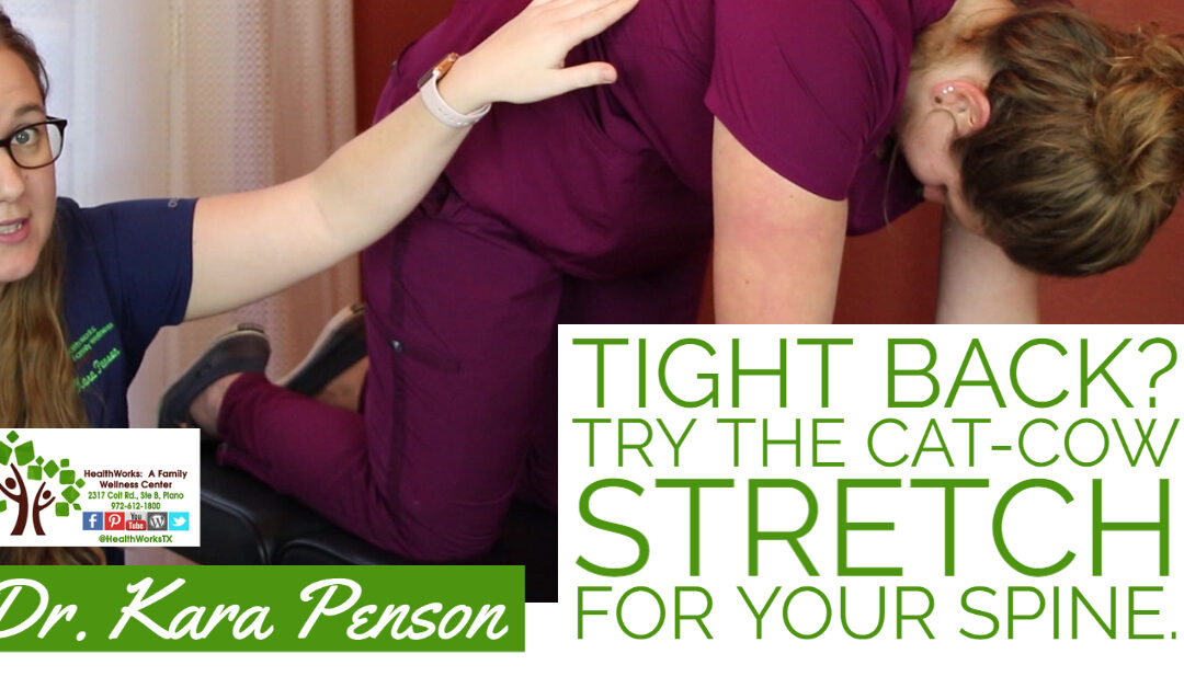 Tight Back? Try The Cat-Cow Stretch For Your Pain.