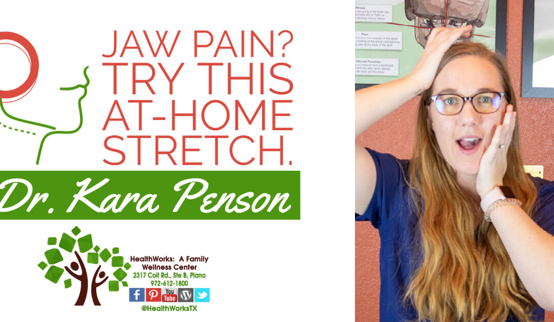 Do you have TMJ pain or tightness on one side?  Try this at-home stretch.