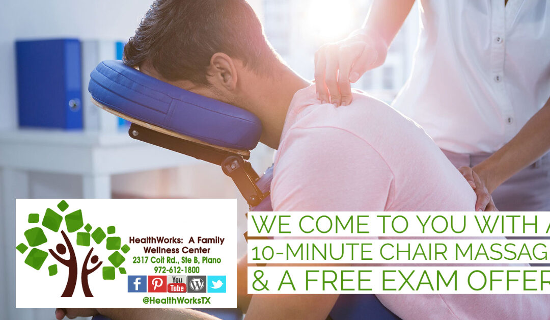 Want a Free 10-Minute Massage at Work?  Increase Workplace Wellness with Our Massage Event Program.