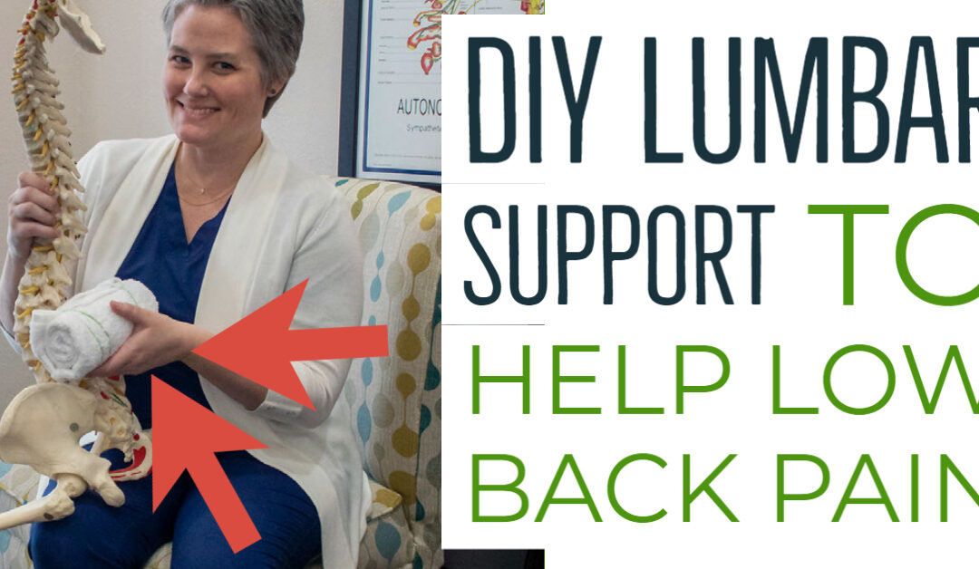 DIY Lumbar Support for Low Back Pain (no-sew version!)
